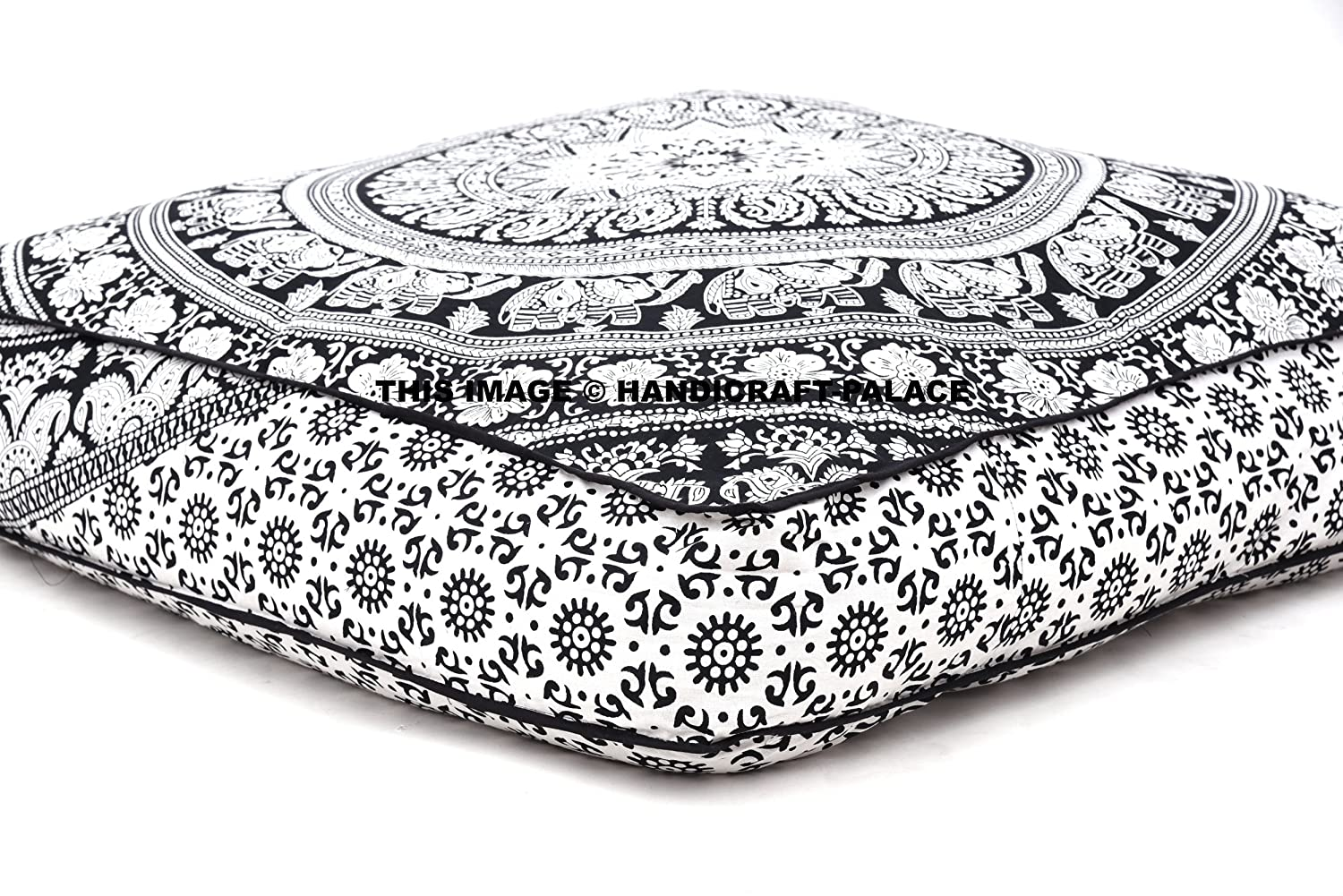 Bohemian Large Mandala Square Floor Pillow Throw Case Indian Cushion Cover Pouf eBay