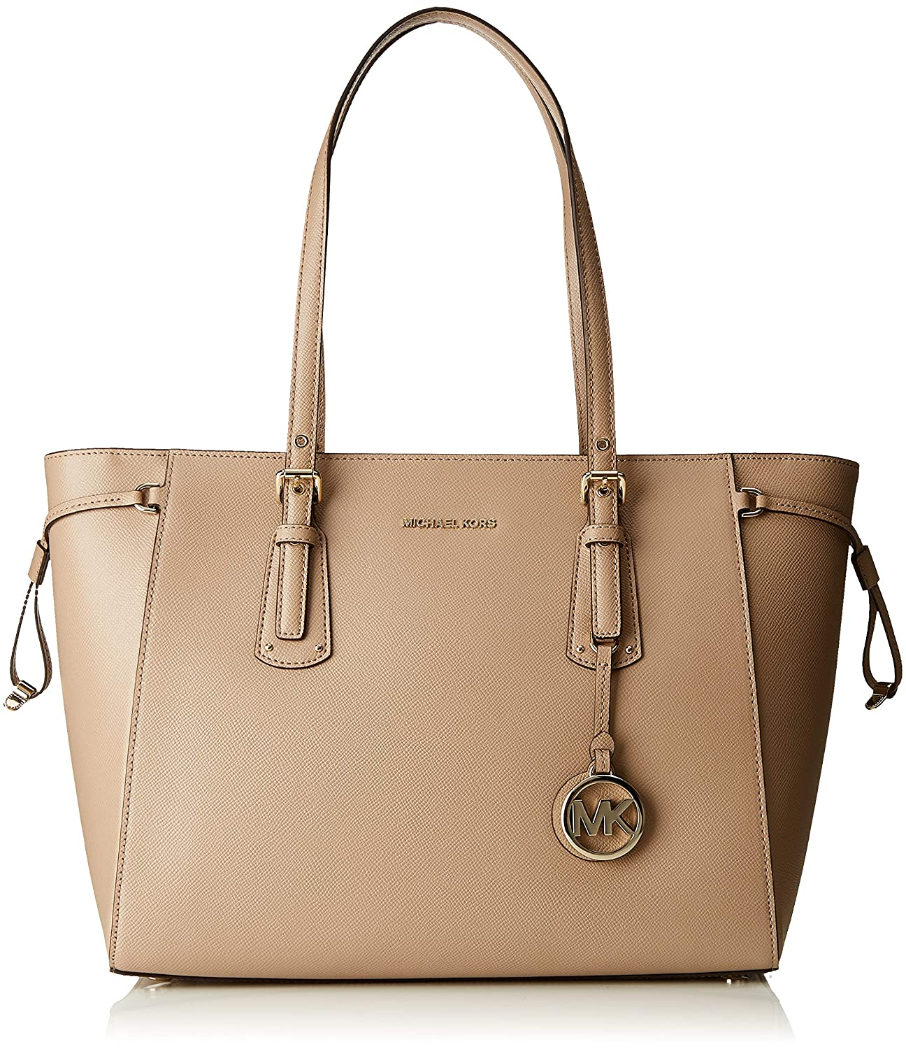 da38bc1d0ad5 Amazon.com  Women s Accessories Michael Kors Voyager Truffle Beige Tote Bag  Spring Summer 2018  Clothing