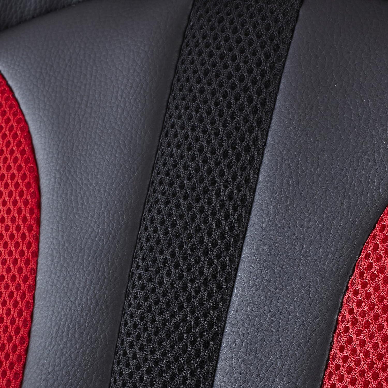 sedia da ufficio con supporto lombare e schienale sportivo in stile auto da corsa Neo/® in pelle PU White /& Black per Gaming Executive