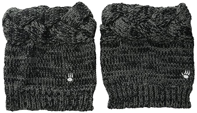 Amazon Bearpaw Womens Braided Boot Topper Charcoal Os Clothing