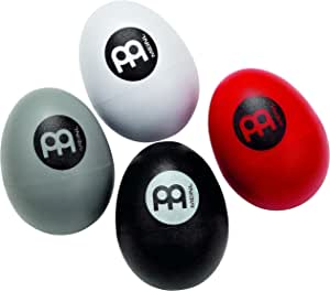 Meinl 4-Piece Egg Shaker Four Different Volumes for Cajon, Drumset, and Singer Songwriters-NOT MADE IN CHINA-Live or Studio Use, 2-YEAR WARRANTY, ES-SET