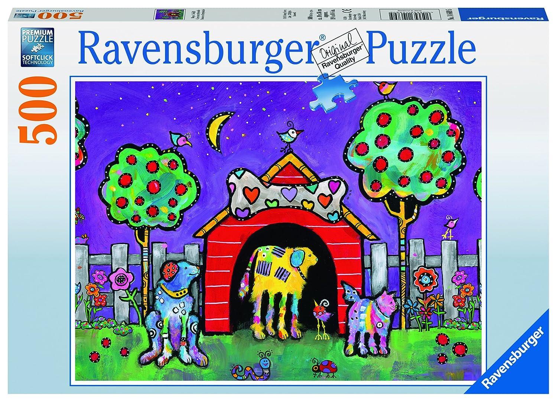forma única Ravensburger 14689 14689 14689 - Dogs at Twilight - puzzle 500 piezas  precios bajos todos los dias