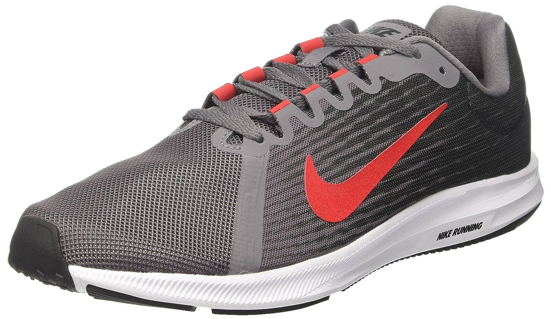 Nike Running Downshifter 8, Zapatillas de Entrenamiento para Hombre 43 EU Gris (Anthracite/Speed Red-gunsmoke-black-white 005)