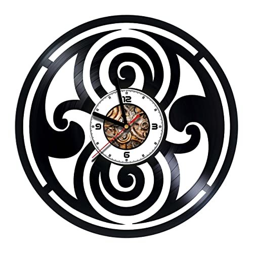 doctor who handmade vinyl wall clock get unique gifts presents for birthday christmas