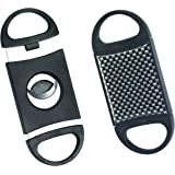 Quality Importers Trading Dual Blade Guillotine Cigar Cutter, Up to 54-Ring