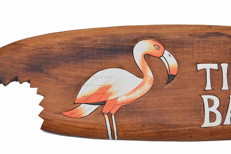 Tabla de surf 100cm Tiki barra con Flamencos Motivo Decoraci/ón para colgar Lounge Estilo