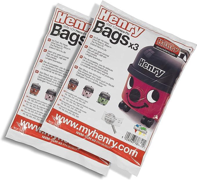 Henry Bags HepaFlo-Bolsas (3 Unidades), Blanco, tamaño único: Amazon.es: Hogar