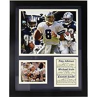 Legends Never Die Dallas Cowboys Aikman, Irvin y Smith Foto enmarcada Collage, 27,94 cm x 35,56 cm