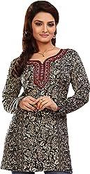 Unifiedclothes Women Fashion Printed Short Indian Kurti Tunic Kurta Top Shirt Dress EXE04A