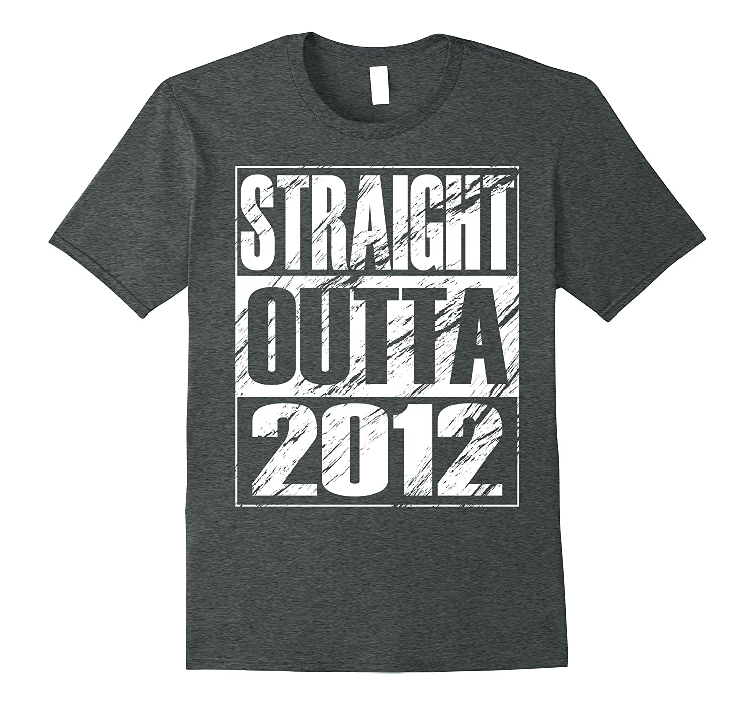 Funny Straight Outta 2012 5th Birthday T-shirt Vintage Gift-Art