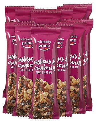Wickedly Prime Barra de frutas y nueces, marañó ...