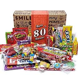 80th Birthday Retro Candy Gift Basket