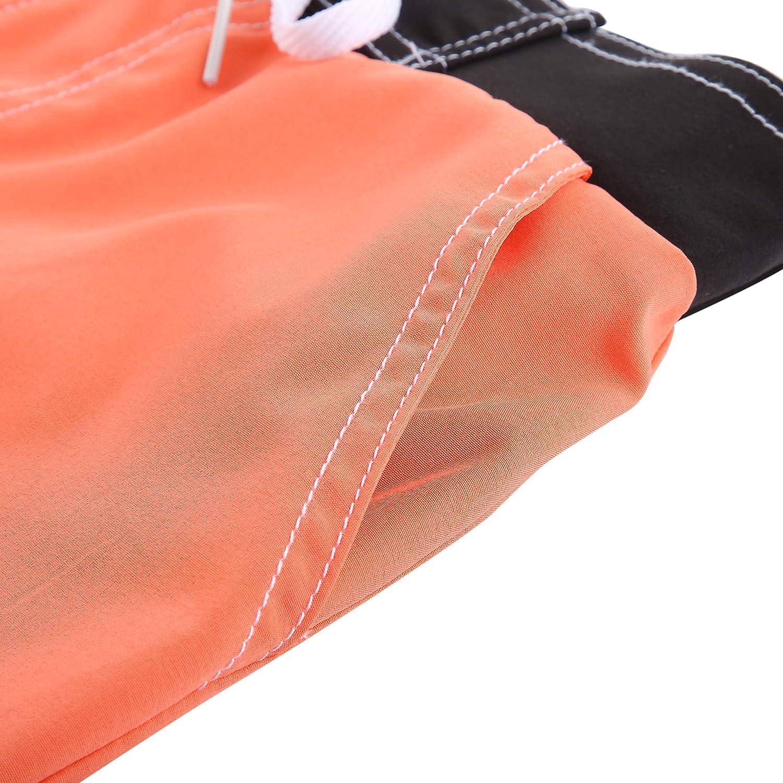 Meegsking Women Quick Dry Swimwear Trunks Sports Board Shorts with Soft Briefs Inner Lining