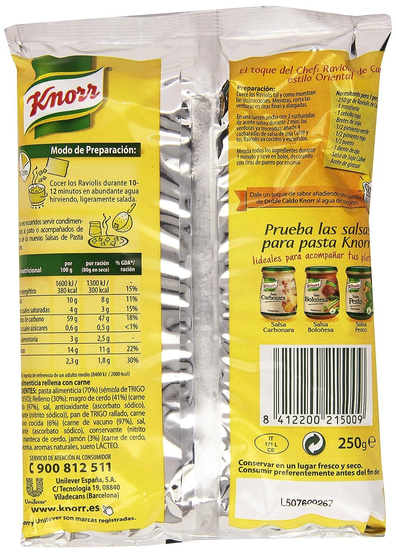 Knorr - Ravioli de carne - 250 g - [Pack de 12]: Amazon.es: Alimentación y bebidas