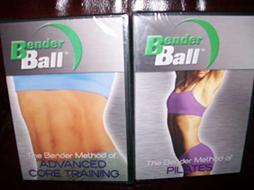 BENDER BALL 2 DVD SET ADVANCED CORE TRAINING PILATES. Ball is Not Included.