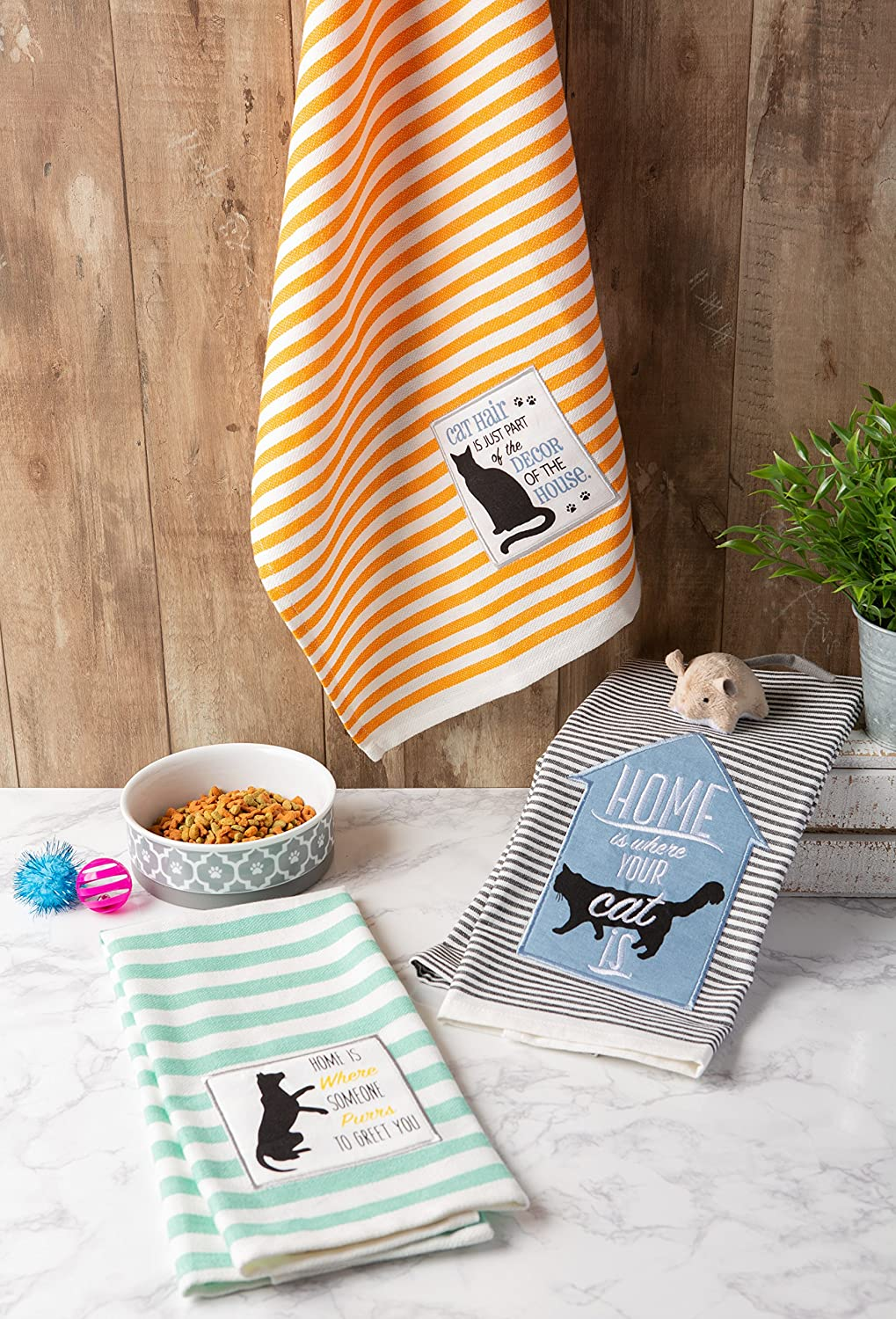 Ultra-Absorbent Dishtowel-18 x 28 Dishtowels Dishtowel-18 x 28 CAMZ37436 Drying DII 100/% Cotton Cleaning Pet Lover Printed Dish Towels 18 x 28 Set of 3-Cat Everyday Basic Home Kitchen