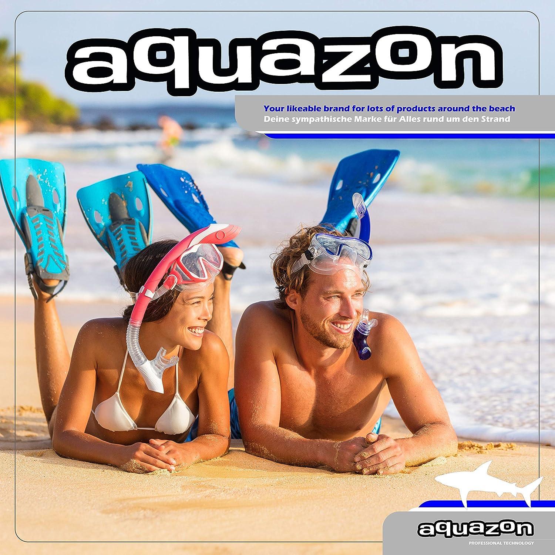 snorkeling avec haut semi dry pour enfants jeunes de 7 /à 14 ans set de natation masque de snorkeling en verre tremp/é set de plong/ée AQUAZON CAPRI Set de snorkeling de haute qualit/é
