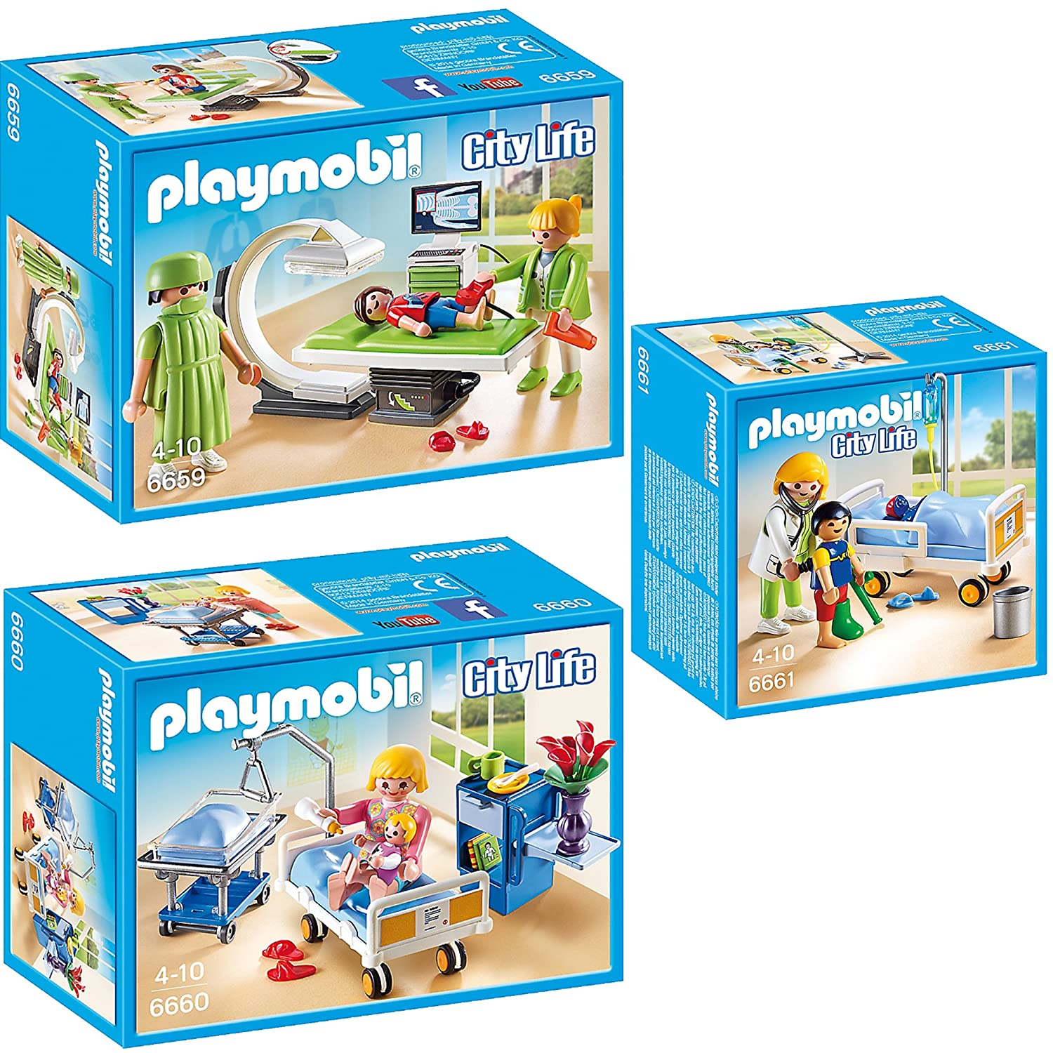 Playmobil City Life Kinderklinik 3er Set