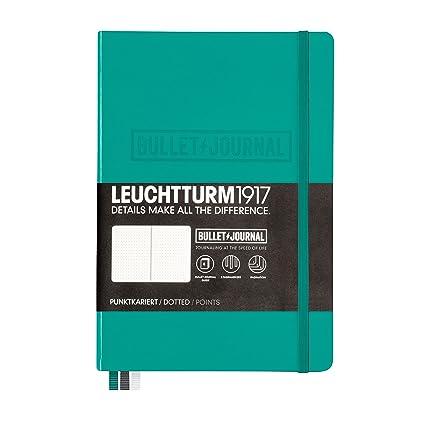 Leuchtturm1917 – Cuaderno, color verde esmeralda