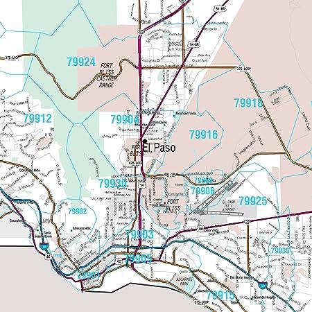Amazon.com: MarketMAPS El Paso, TX Metro Area Wall Map ... on zip code map 79901, zip codes by city, zip code map el paso 79932,