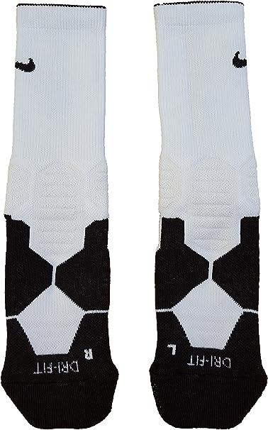 Habitual cigarrillo evidencia  Amazon.com: Nike Hyper Elite Cushioned Basketball Socks (Large,  White/Black): Clothing