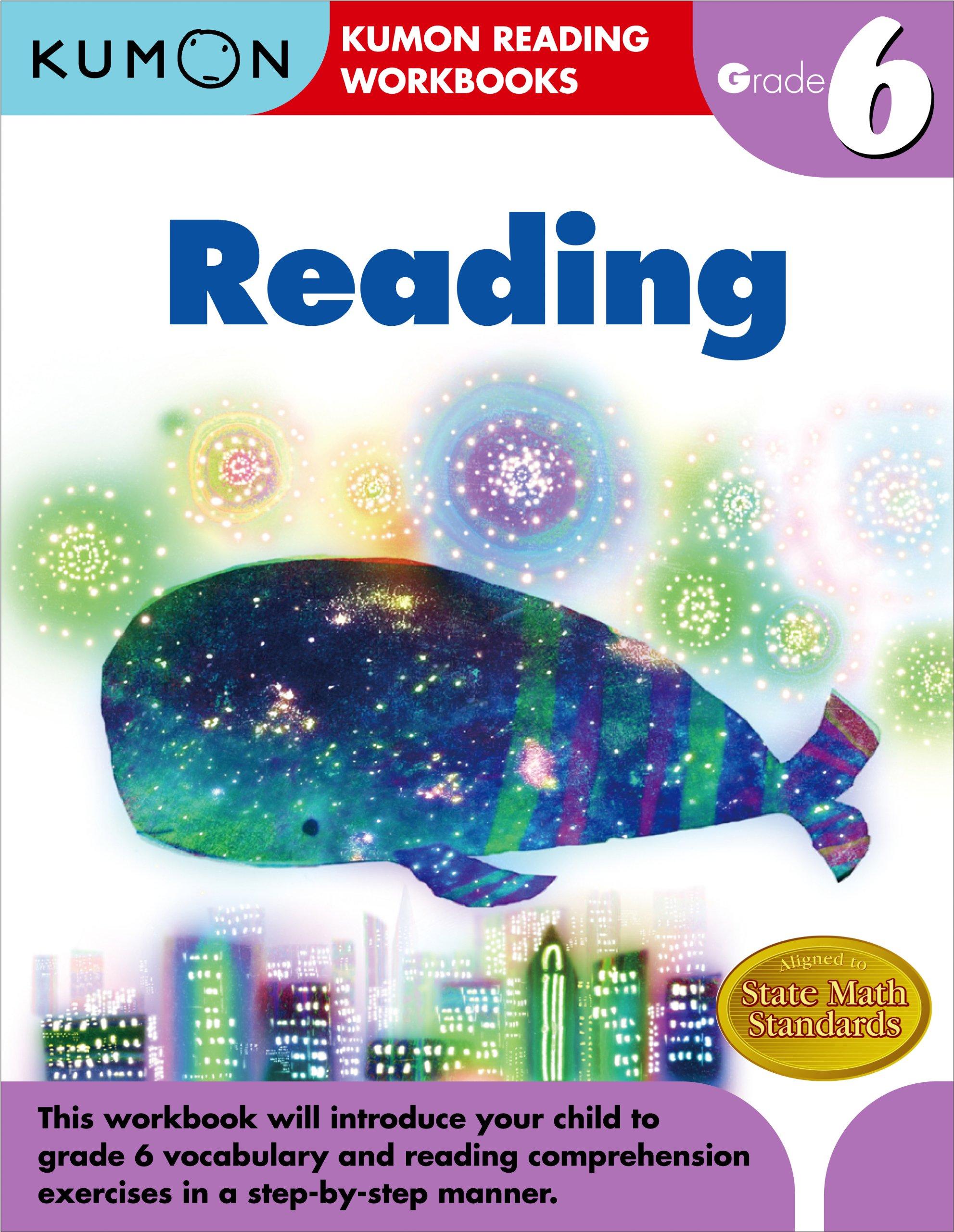 Worksheets Kumon Reading Worksheets amazon com grade 6 reading kumon workbooks 9781934968949 publishing books