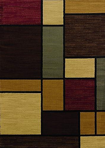 United Weavers of America Rhombus Area Rug, 1 10 x 7 2 , Multicolored