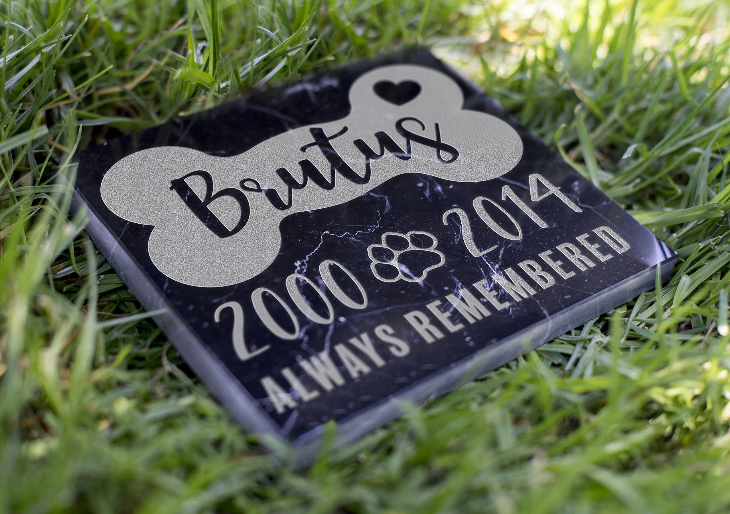 Memorial Pet Headstone - Always Remembered - D9 by Lily's Atelier
