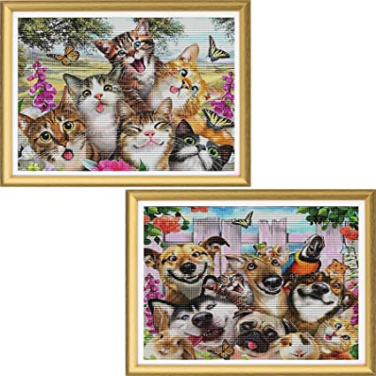 DIY Full Drill Diamond Painting Kits Animals Dog Puppy Picture Art Embroidery