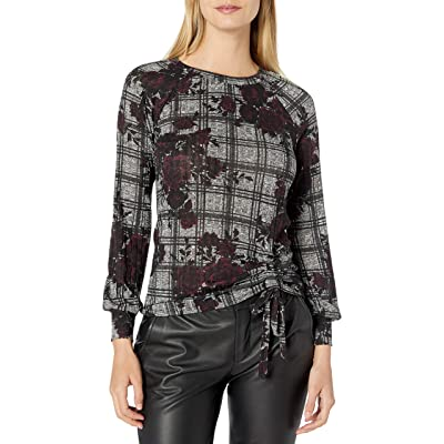 A. Byer Women's Gathered Front Long Sleeve Top at Women's Clothing store