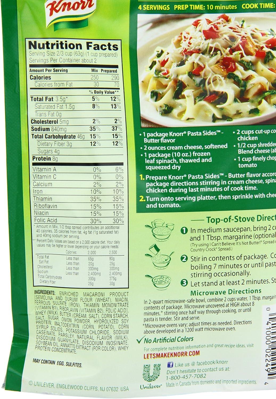 Knorr - Lados de pasta plato de pasta, manteca de 4,5 oz