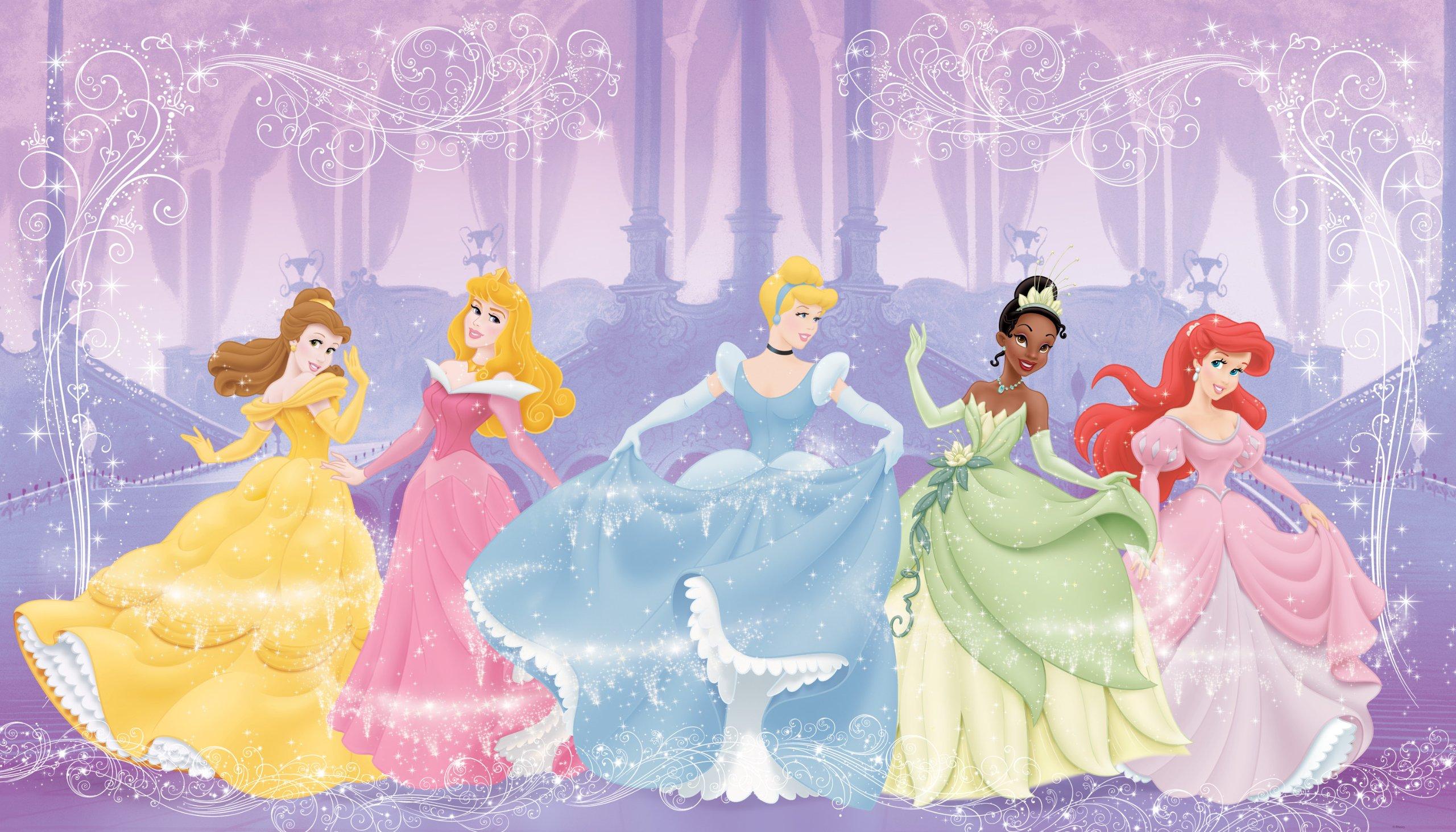 RoomMates JL1226M Disney Perfect Princess 6-Foot-by-10.5-Foot Prepasted Wall Mural by RoomMates