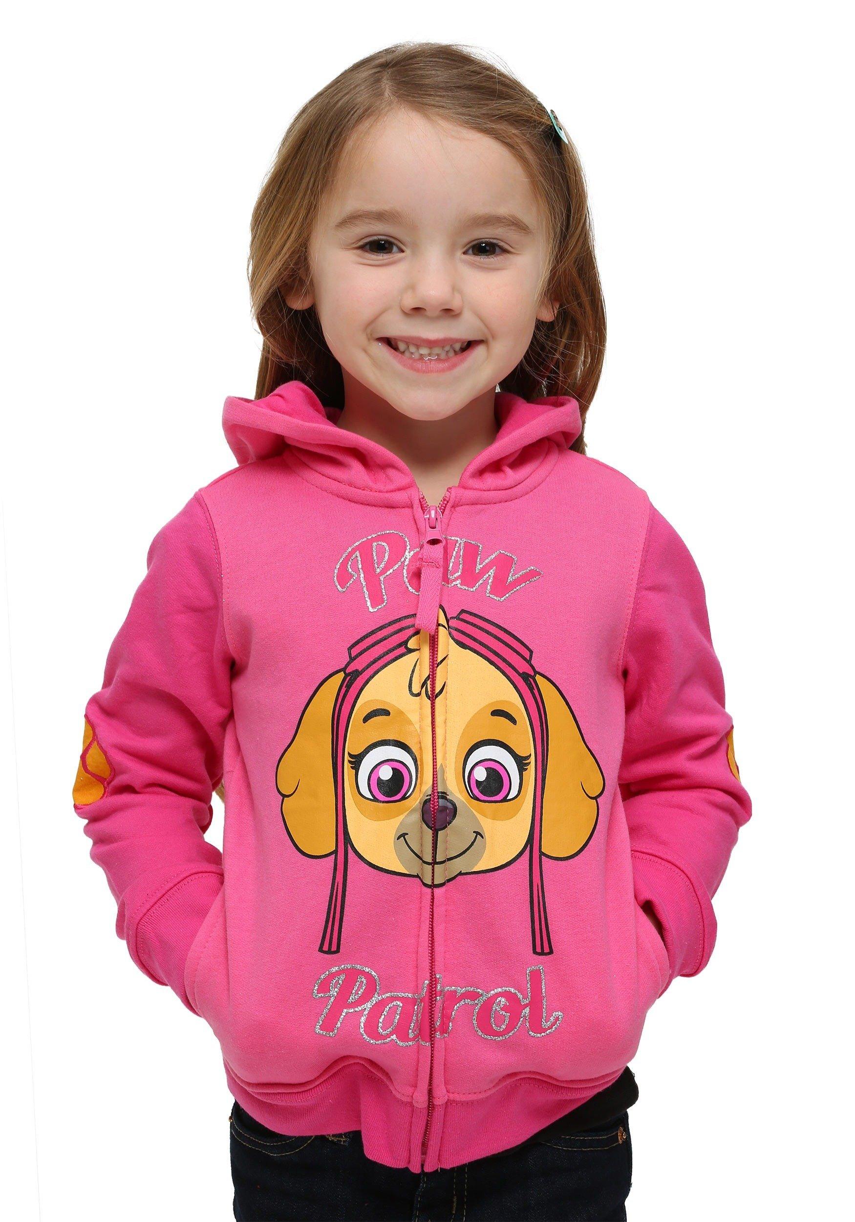 Nickelodeon Paw Patrol Little Girls Skye Toddler Hoodie Hot Pink//Heather Pink,