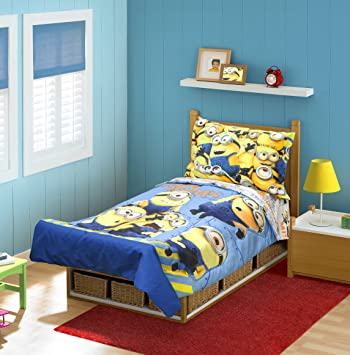 minions mishap 4 pc toddler bedding set - Toddler Bed Sets