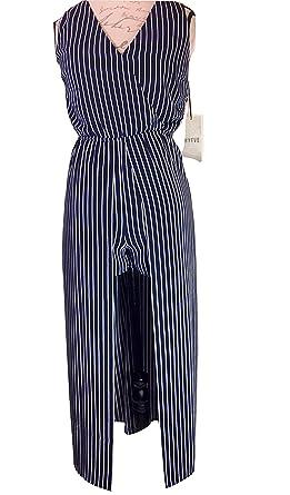 e025d6da76de Image Unavailable. Image not available for. Color  HYFVE Women s Romper  Jumpsuit Striped Blue White Size M Nordstrom
