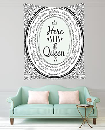 Decoration Ideas For Living Room Bedroom Decor Queen Design Funny Quotes  Modern Tapestry Wall Hanging Dorm Amazon Com