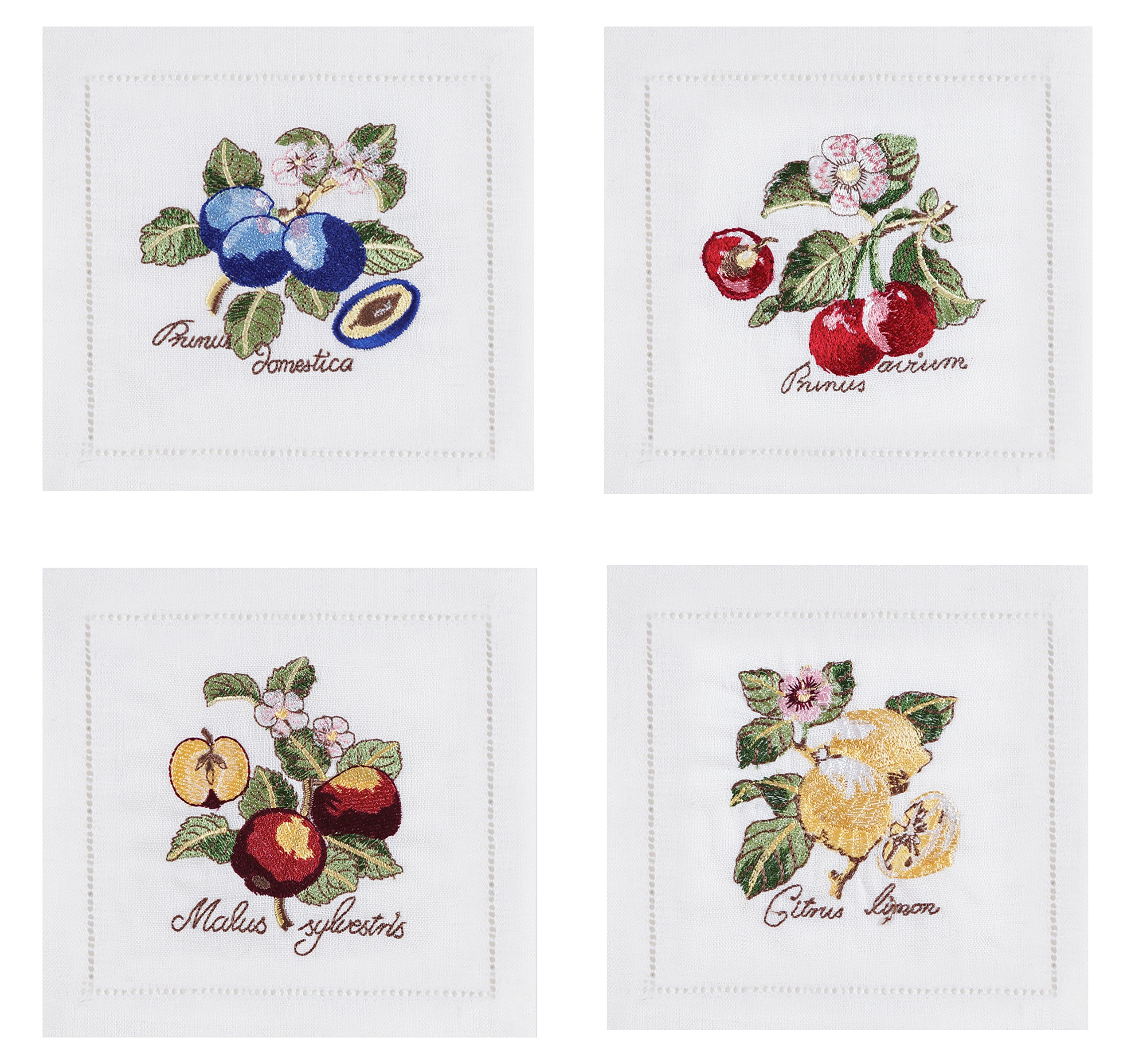 Villeroy and Boch French Garden Embroidered Cocktail Napkin (Set of 4), 6''x6'', Multi