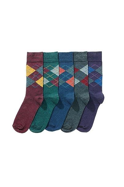 next Hombre Paquete De Cinco Pares De Calcetines Estampado Rombos Colores: Amazon.es: Ropa y accesorios