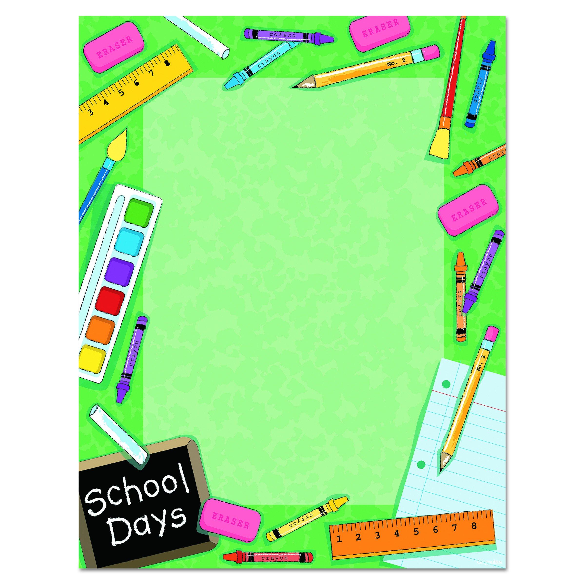 Geographics Design Paper, School, 24 lb, 8.5 x 11 Inches, 100 Sheets Per Pack (46896)