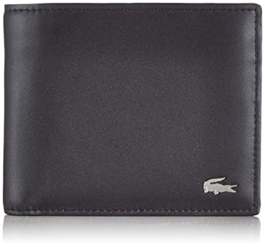 65eaad0fd Lacoste Mens Large Billfold and Coin Wallet - Black at Amazon Men s ...