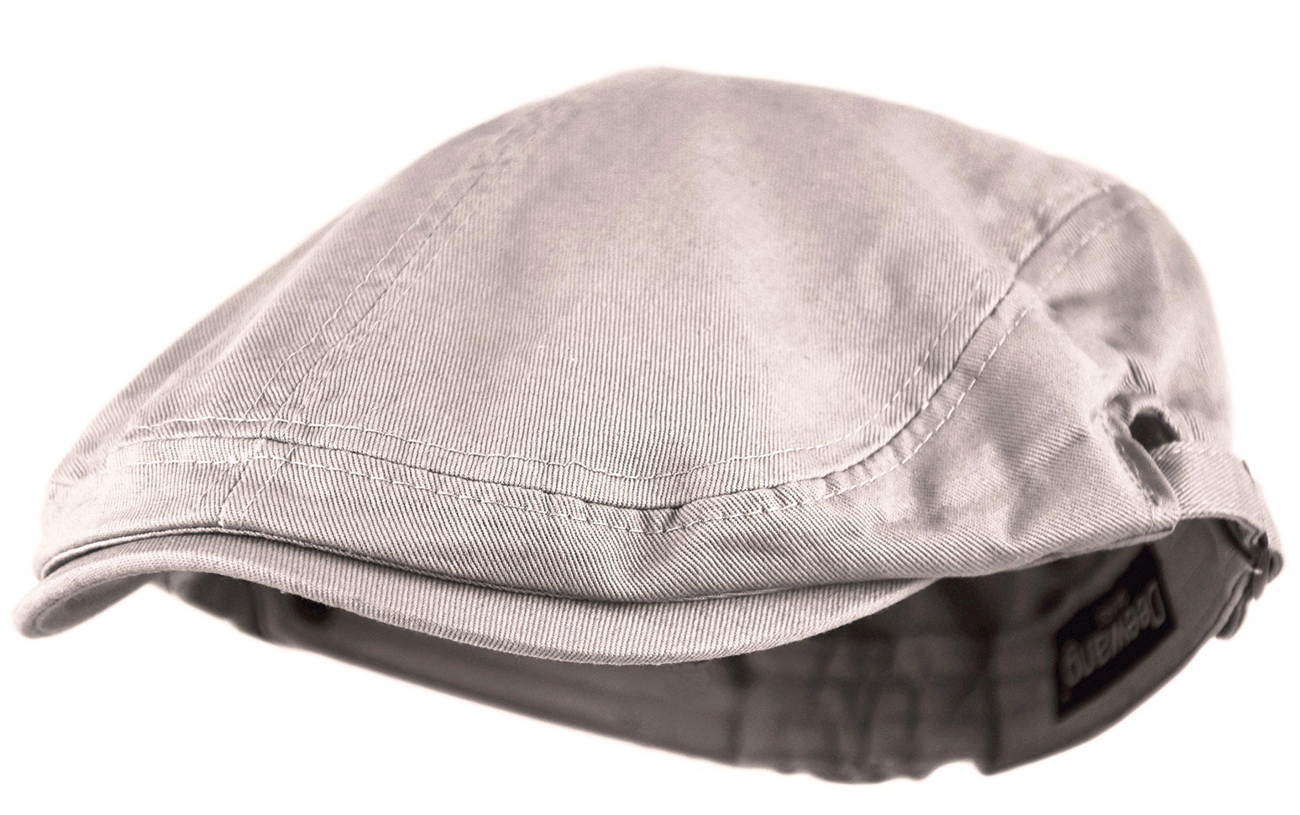 b365eeb68af Deewang Fashion Cotton Cabbie Hat Buckle Golf Ivy Colorful Newsboy Driving  Cap (Beige) Apparel