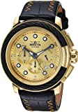 Invicta Men's 'Bolt' Quartz Stainless Steel and Leather Casual Watch, Color:Black (Model: 24442)