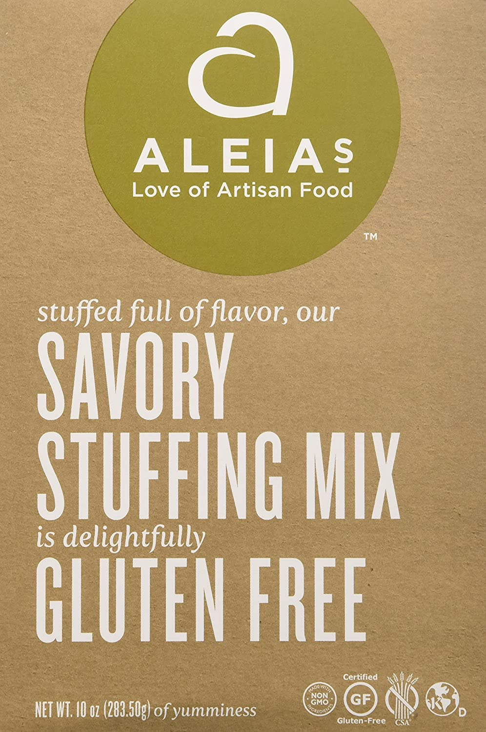 Aleia's Gluten Free Foods Stuffing Mix, Savory, Gf, 10-Ounce (Pack of 3)