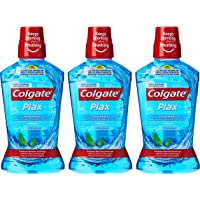 Colgate Plax Peppermint Mint Mouthwash, 500 ml (Pack of 3)