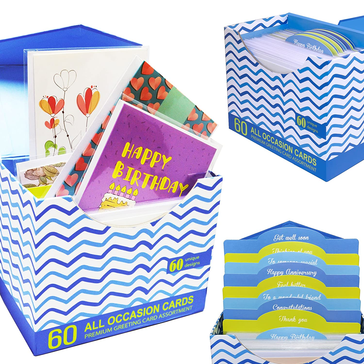 Amazon 60 Pack Assorted All Occasion Greeting Cards 60 Unique