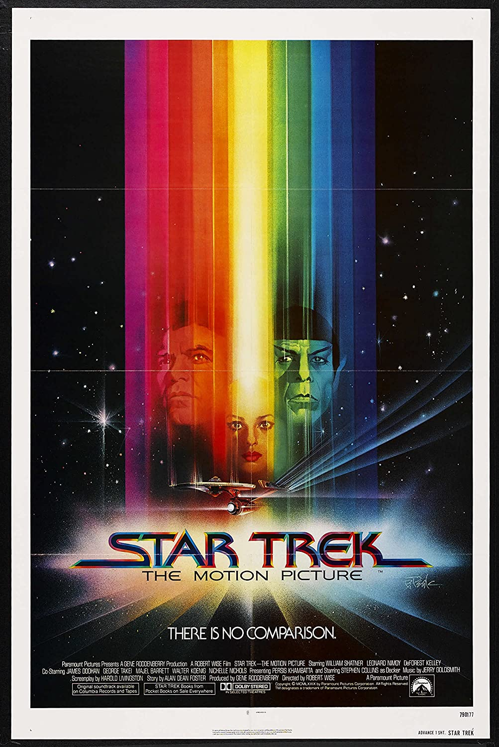 STAR TREK THE MOTION PICTURE Original 1979 ADVANCE 27x41 One Sheet Movie Poster WILLIAM SHATNER LEONARD NIMOY At Amazons Entertainment Collectibles Store