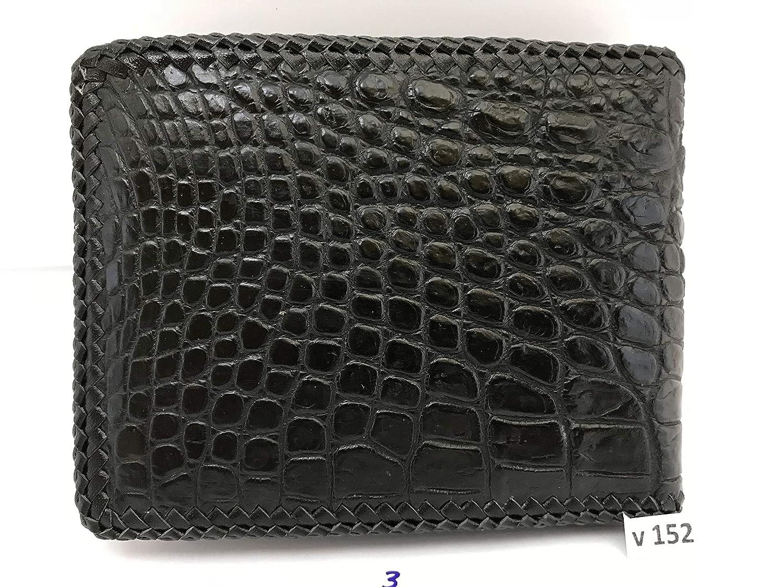 Genuine Crocodile Skin Mens Bifold Leather Wallet Handamde