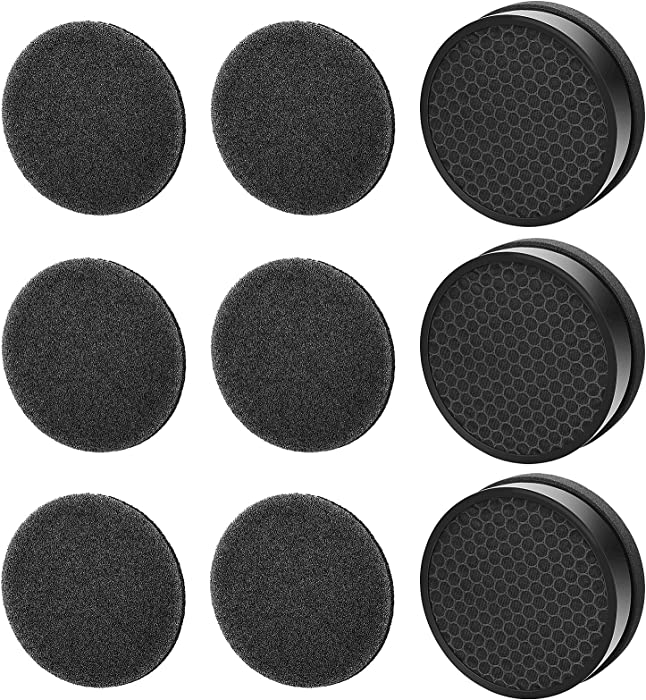 G-2000-FL Filter Replacement - Compatible for hOmeLabs HME020248N Air Purifier, for Levoit LV-H132-RF, and for Geniani Air Purifier G-2000-FL, 3 Pack HEPA filters + 6 Pack Activated Carbon Filters