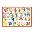 eeBoo Flower Alphabet Puzzle for Kids, 100 Pieces
