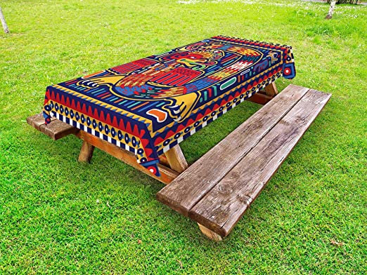Amazon Com Lunarable Mexican Outdoor Tablecloth Culture Pattern